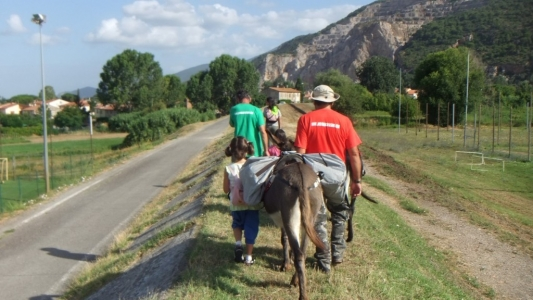 trekking con asini toscana bambini famiglie