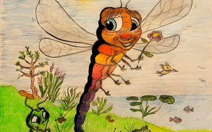 fiaba storie bambini libellula coraggiosa